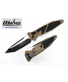มีดออโต้ Microtech Socom Elite T/E Automatic Knife Black Blade, Tan Handles (161A-1TA)