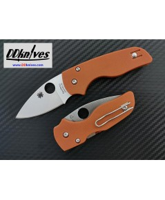 มีดพับ Spyderco Lil Native CPM-REX 45 Blade, Orange G10 Handles, Sprint Run (C230GPBORE)