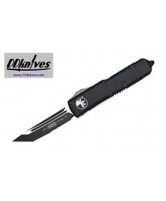 มีดออโต้ Microtech UTX-85 T/E OTF Automatic Knife Tatical Black Blade, Black Handles (233-2T)