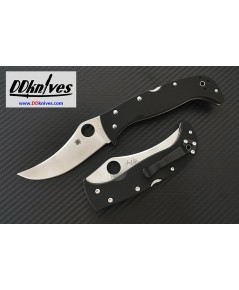 มีดพับ Spyderco Chinook 4 Folding Knife S30V Satin Plain Blade, Black G10 Handles (C63GP4)
