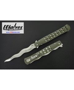มีดพับ Cold Steel Limited Edition Lynn Thompson Ti-Lite 440C Kris Blade, OD Green Handles (26SY6)
