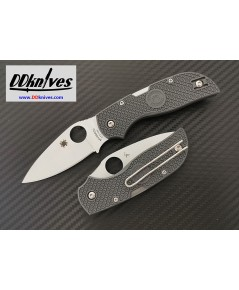 มีดพับ Spyderco Chaparral Lightweight CTS-XHP Satin Plain Blade, Gray FRN Handles (C152PGY)