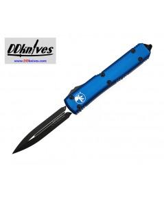มีดออโต้ Microtech Ultratech D/E OTF Automatic Knife Black Blade, Blue Handles (122-1BL)