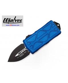 มีดออโต้ Microtech Exocet Dagger OTF Automatic Knife Black Blade, Blue Handles (157-1BL)