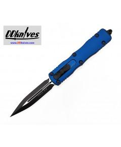 มีดออโต้ Microtech Dirac D/E OTF Automatic Knife Black Blade, Blue Handles (225-1BL)