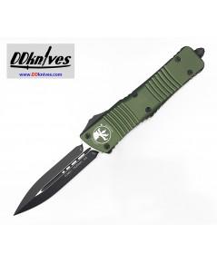 มีดออโต้ Microtech Combat Troodon D/E OTF Automatic Knife Black Blade, OD Green Handles (142-1OD)