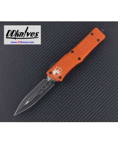 มีดออโต้ Microtech Combat Troodon D/E OTF Automatic Knife Black Blade, Orange Handles (142-1OR)