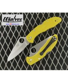 มีดพับ Spyderco Salt 2 Folding Knife H1 Plain Blade, Yellow FRN Handles (C88PYL2)
