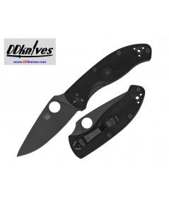 มีดพับ Spyderco Tenacious Lightweight Folding Knife Black Plain Blade, Black FRN Handles (C122PBBK)