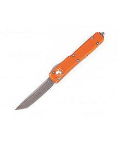 มีดออโต้ Microtech Ultratech T/E OTF Automatic Knife Apocolyptic, Orange Distressed (123-10DOR)
