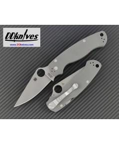 มีดพับ Spyderco Paramilitary 2 Folding Knife Maxamet Satin Blade, Dark Gray G10 Handles (C81GPDGY2)