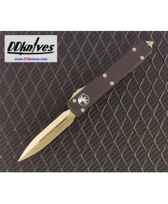 มีดออโต้ Microtech Ultratech D/E OTF Auto Knife Bronze Blade and Hardware, Black Handles (122-13)