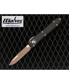 มีดออโต้ Microtech Ultratech S/E OTF Auto Knife Bronze Blade and Hardware, Black Handles (121-13AP)