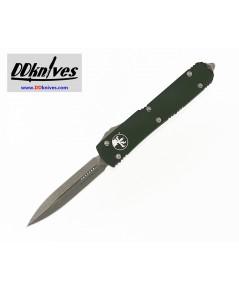 มีดออโต้ Microtech Ultratech D/E OTF Automatic Knife Apocalyptic Blade, OD Green Handles(122-10APOD)