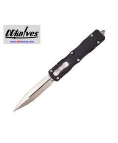 มีดออโต้ Microtech Dirac Delta D/E OTF Automatic Knife Stonewash Blade, Black Handles (227-10)