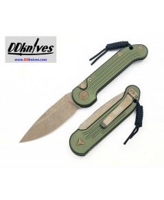 มีดออโต้ Microtech LUDT Automatic Knife S/E Bronze Apocalyptic Blade, OD Green Handles (135-13APOD)