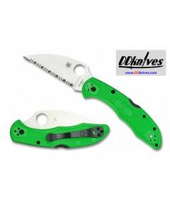 มีดพับ Spyderco Salt 2 Folding Knife LC200N Wharncliffe Serrated Blade, Green FRN Handles (C88FSWCGR