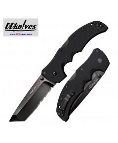 มีดพับ Cold Steel Recon 1 Tanto Folding Knife S35VN Black DLC Combo Blade, Black G10 Handles (27BTH)