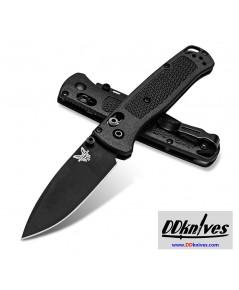 มีดพับ Benchmade Mini Bugout CPM-S30V Black DLC Plain Blade, Black CF-Elite Handles (533BK-2)