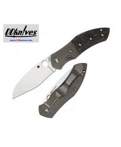 มีดพับ Spyderco Myrtle Folding Knife S30V Blade, Titanium/Marbled Carbon Fiber Handles (C194CFTIP)