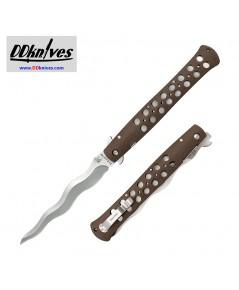มีดพับ Cold Steel Kris Ti-Lite Folding Knife 6 inch AUS-10A Kris Blade, FDE Griv-Ex Handles (26SXK6)