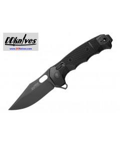 มีดพับ SOG SEAL XR Flipper Knife Black TiNi S35VN Clip Point Blade, Black GRN Handles (12-21-02-57)