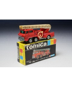 Hino Aerial Ladder Fire Truck, Tomica no.29 black box