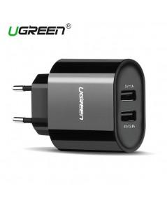 Ugreen 5V3.4A Universal DUAL USB Charger เป็นหัวชาร์จแบบ 2 ช่อง พกพาง่าย