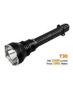 ACEBEAM T30 สว่างสูงสุด 2200 lumens ไฟฉายทรงยาว ที่พุ่งแรงสุดถึง 1081 เมตร ชาร์จไฟในตัว