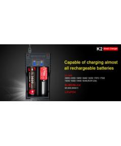เครื่องชาร์จแบต Klarus K2 USB Charger แบบ 2 ราง ขนาดเล็ก ที่พิเศษเป็น Power Bank ได้อีกด้วย