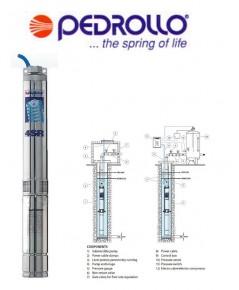 ปั้มบาดาล Pedrollo อิตาลีแท้ รุ่น PDL-4SR8/9 2แรง ขนากท่อ 2นิ้ว 380Vac 3เฟส **ประกัน 2 ปี
