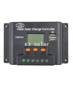 โซล่าชาร์จเจอร์ 20A 12V/24V จอ LCD Solar Panel Charger Controller