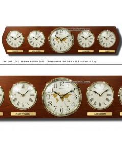 นาฬิกาแขวน WALL CLOCK RHYTHM CMW901NR06 27 inch. (5 Local time)