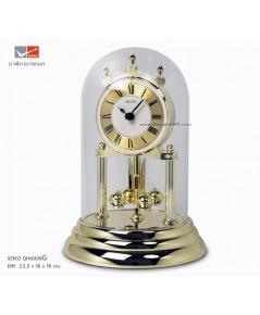 นาฬิกาตั้งโต๊ะโดมแก้ว SEIKO QH์N006G Gold (สูง 23.5 cm.)