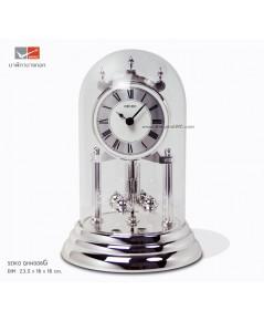 นาฬิกาตั้งโต๊ะโดมแก้ว SEIKO QH์N006S Silver (สูง 23.5 cm.)
