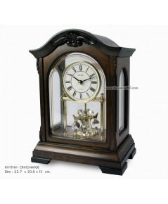นาฬิกาตั้งโต๊ะไม้ WOODEN TABLE CLOCK RHYTHM CRH124NR06 (3 CHIMES)
