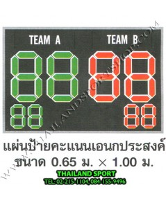 ป้ายคะแนน รุ่น เอนกประสงค์ (ขนาดป้าย กว้าง 1 m. x สูง 0.65 m.) PRO