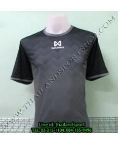 เสื้อกีฬา วอริค WARRIX รหัส WA 1539 (สีดำ A) พิมพ์ลาย