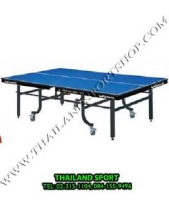 โต๊ะปิงปอง เทเบิลเทนนิส BUTTERFLY รุ่น PROFESSIONAL DT3 25 mm. (ชนิดพับได้ มีล้อเลื่อน สีนำเงิน B)