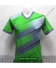 เสื้อกีฬา คอวี พิมพ์ลาย หมี คูล MHEE COOL รุ่น MV (สีเขียว G)
