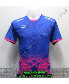 เสื้อกีฬา แกรนด์ สปอร์ต Grand Sport รุ่น 11-540 (สีน้ำเงิน B) พิมพ์ลาย