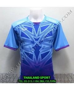 เสื้อกีฬา แกรนด์ สปอร์ต Grand Sport รุ่น 11-540 (สีฟ้า L) พิมพ์ลาย