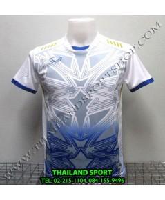 เสื้อกีฬา แกรนด์ สปอร์ต Grand Sport รุ่น 11-540 (สีขาว W) พิมพ์ลาย