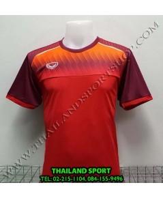 เสื้อกีฬา แกรนด์ สปอร์ต Grand Sport รุ่น 11-456 (สีแดง) พิมพ์ลาย.