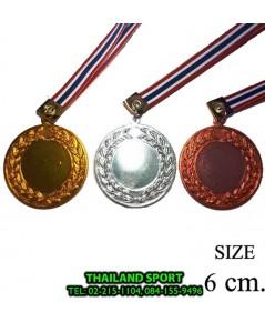 เหรียญรางวัล อลูมิเนียม STAR พร้อมติดโลโก้ รุ่น 005 (ชนิดบาง ขนาด 6 cm. GD, S, C) PRO