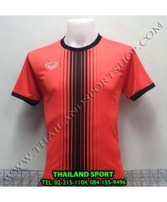 เสื้อกีฬา แกรนด์ สปอร์ต Grand Sport รุ่น 11-464 (สีแดง) พิมพ์ลาย