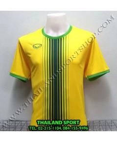 เสื้อกีฬา แกรนด์ สปอร์ต Grand Sport รุ่น 11-464 (สีเหลือง) พิมพ์ลาย