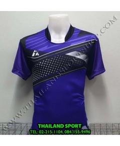 เสื้อกีฬา ที-ทีม  T-TEAM  รุ่น 08 (สีม่วง) พิมพ์ลาย