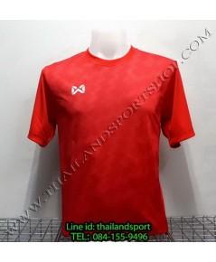 เสื้อกีฬา วอริค WARRIX รหัส WA 1555 (สีแดง RR) พิมพ์ลาย