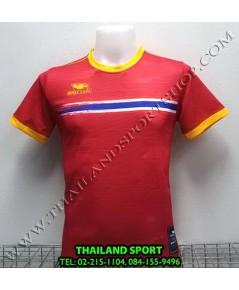 เสื้อกีฬา หมี คูล MHEE COOL รุ่น MO2 คอกลม พิมพ์ลายธงชาติ (สีแดง)
